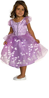 Purple Princess Fiber Optic Dress Toddler