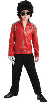 Michael Jackson Beat It Red Zipper Jacket, Kids - New for 2010 Halloween