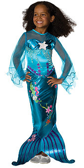 Magical Mermaid Girls Child Blue Costume