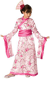 Asian Princess Costume, Kids Pink Kimono