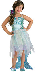 Mermaid Costume Child 5pc Fancy Dress
