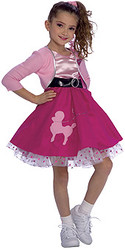 Fifties girls costumes Child 1950s style Dress