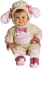 Baby Lamb Costume, Infant Pink Bow
