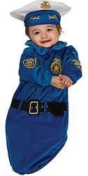 Baby Police Officer Costume, Newborn Bunting