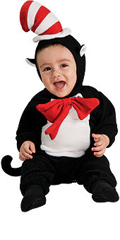 Cat in the Hat Costume Infant EZ Romper