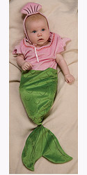Baby Mermaid Costume, Newborn Bunting