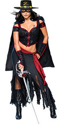 Lady Zorro Adult Halloween Costume