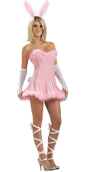 Honey Bunny Costume, Adult Pink Dress