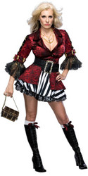 Sexy Pirate Queen Costume  Adult female Small