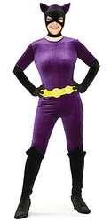 Purple Catwoman Costume Adult Classic Halloween Costume
