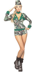 Army girls costumes , Adult Military Uniform