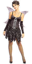 Cosmic Fairy Dress with Wings Adult Halloween Costume