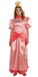Mario Brothers Princess Peach Costume, Adult Large Dress