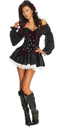 Swashbuckler Dress Adult Playboy Sexy Pirate Costume