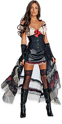 Jonah Hex Lilah Dress (Black) Adult Fancy Halloween Costume