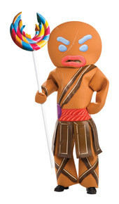 Gingerbread Man Warrior Adult Halloween Shrek Costume