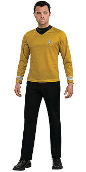 Gold Captain Kirk Uniform Adult Star Trek Costume