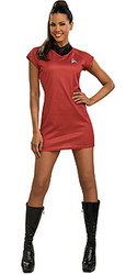 Star Trek Uhura Uniform Adult Red Dress