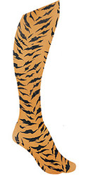 Child Orange Tights with Tiger Fur Print
