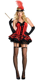 Cabaret Dress, Adult Saloon Girl - Sexy Halloween Costume 2010