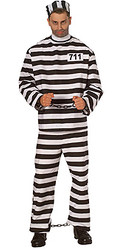 Adult Male Prisoner Halloween Costume