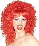 Red Curly Hair Wig