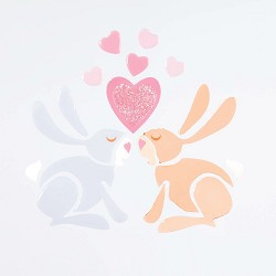 Bunny Love Small GelGems Window Clings