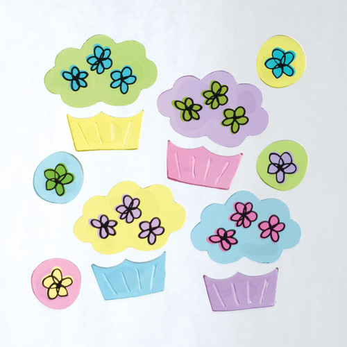 Sweet Cakes GelGems Small Window Clings