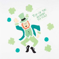 Lucky Leprechaun Large GelGems Window Clings