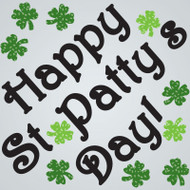 Happy St. Pats Gel Gems Large Window Clings