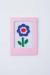 Puffy flower GelGems window cling greeting card