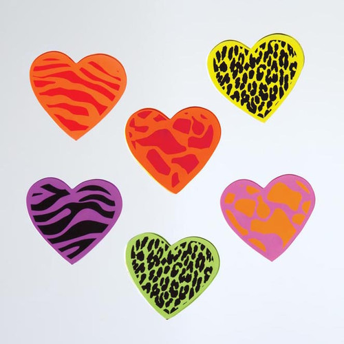 Jungle Hearts Large GelGems Window Clings