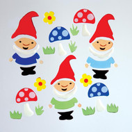 Garden gnomes window clings GelGems