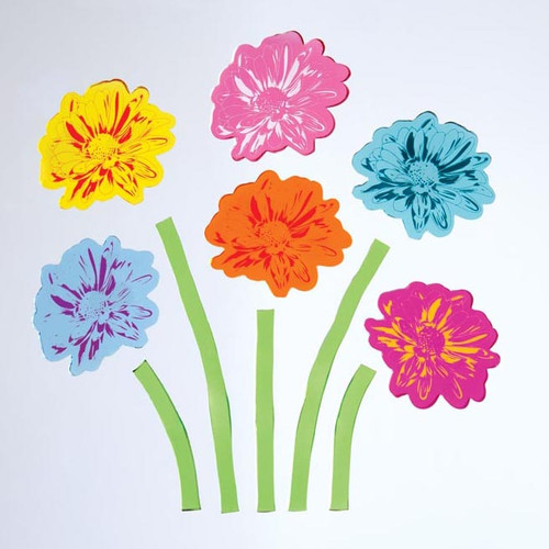 Pop Bouquet Large GelGems Window Clings
