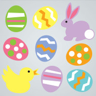 Easter Friends Gel Gems Large Window Clings
