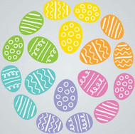 Eggs Gel Gems Large Window Clings
