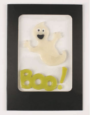 Silly Ghost GelGems Greeting Card
