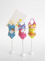 Doodles quilted swimsuit memo clip