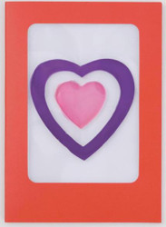 Bullseye Hearts Greeting Card