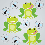 Froggies and Flies Gel Gems Small Window Clings