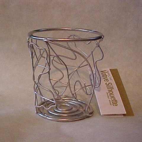 Falling Leaves Votive Silhouette Wire Candle Holder