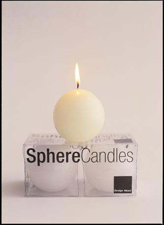 Ivory Sphere Candles