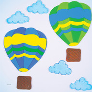 Balloon Ride Gelgems Large Window Clings