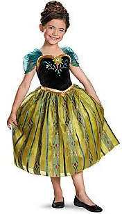 Disney Frozen Anna Coronation Deluxe Girls Costume