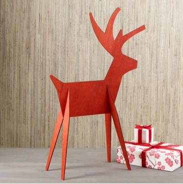 Alpine Red Reindeer Table and Yard displays