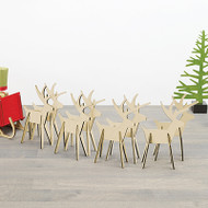 Natural Alpine Reindeer Set of 8