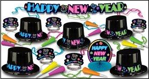 New Years Eve Neon Party Kit for 10