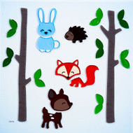 Forest Friends Gelgems® Large Window Clings