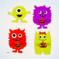 Little Monsters Small GelGems® Window Clings