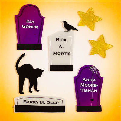Tombstones Small GelGems® Window Clings